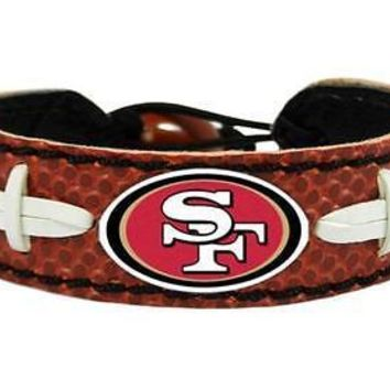 San Francisco 49ers NFL Classic Football Leather Bracelet