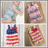 Girl Baby Romper Summer Baby Romper Baby Party Clothes Newborn Lace Ruffle Romper Toddler Girl Fashion Romper Baby Brand Clothes
