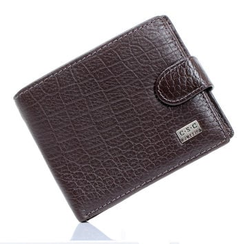 Men Wallets Brown Coffee Real Genuine Cowhide Leather Bifold Wallet Men Purses Male Credit Cards Coin Pocket carteira masculina