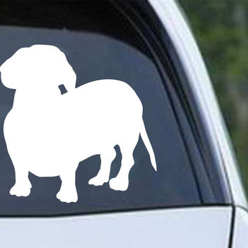Dachshund Weiner Dog Silhouette (a) Die Cut Vinyl Decal Sticker