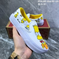 DCCK2 V026 Vans Low Classic Slip-On Lazy people put on board shoes White