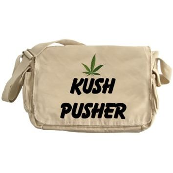 KUSH PUSHER Messenger Bag> KUSH PUSHER> 420 Gear Stop