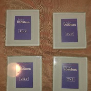 "Cherished Accents 2"" X 3"" Photo Coasters (Set of 4)"