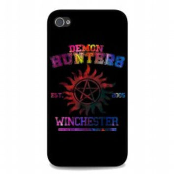 supernatural demon hunters galaxy for iphone 4 and 4s case