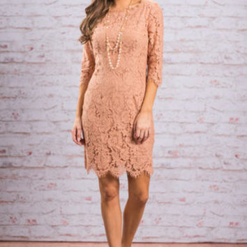 Ever Enchanting Dress, Apricot
