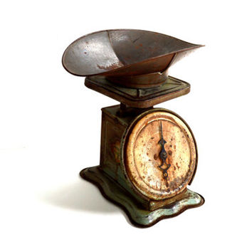 Vintage kitchen scale rustic farmhouse from grasshoppercafe on for Rustic kitchen scale