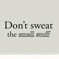 Don't Sweat the Small Stuff Quote Wall Decal Inspirational Saying Vinyl Decal...
