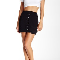 Buttons Scallop Skirt