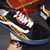 """OFF-WHITE x Vans Old Skool """"Willy"""" Comfortable and breathable leisure shoes for men and women's shoes and shoes"""