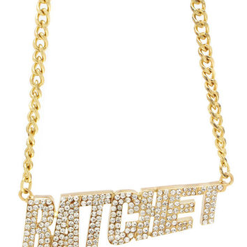 Embellished-Ratchet-Necklace-Set GOLD - GoJane.com