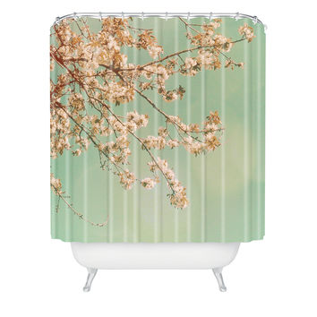 Happee Monkee Plum Blossoms Shower Curtain
