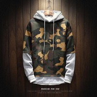 Men's Comfortable Camo Hoodie Up To 5XL