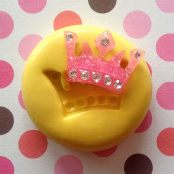 Miniature Princess CROWN Silicone MOLD - Fondant, Metal Mold, Jewelry, Clay, Cake Decoration, Food Grade, Cake, Cupcake, Cake Pops
