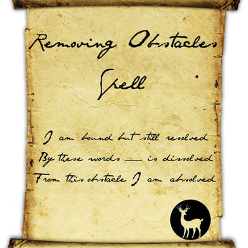 Simple Removing Obstacles Spell
