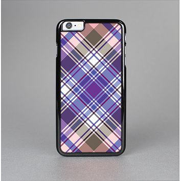 The Gray & Purple Plaid Layered Pattern V5 Skin-Sert for the Apple iPhone 6 Skin-Sert Case