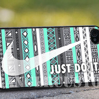 Nike aztec mint (2) - iPhone 4/4s/5/5s/5c Case - Samsung Galaxy S3/S4 - Blackberry z10 Case - Black or White