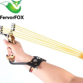 NEW Powerful Aluminium Alloy Slingshot Crossbow Hunting Sling Shot Catapult Camouflage Bow Catapult Outdoor Camping Travel Kits