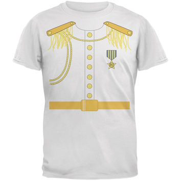 Halloween Prince Charming Costume White Adult T-Shirt