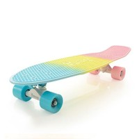 Penny Nickel Fade Complete Skateboard, Pastel Pink/Yellow/Blue, 27-Inch