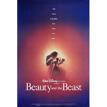Vintage Beauty and the Beast Movie Poster// Classic Disney Movie Poster//Movie Poster//Poster Reprint//Home Decor//Wall Decor//Vintage Art