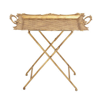 Classy Styled Metal Tray Table
