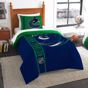 Vancouver Canucks NHL Printed Comforter & Sham Set (Twin) (64 x 86)