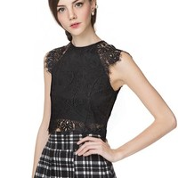 Baldwin Lace Crop Top