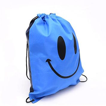 Sackpack Backpack Drawstring Gym Bag with Pockets for Outdoor Storage