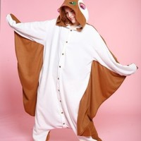 Adult Flying Squirrel Animal Halloween Costume size Standard