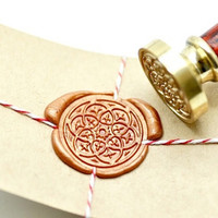 Damask Kaleidoscope B20 Gold Plated Wax Seal Stamp x 1