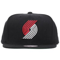 Portland Trailblazers Wool Solid Snapback Hat Black