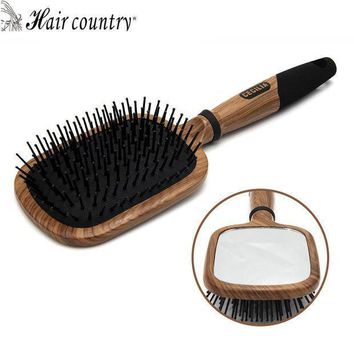 Hair Country Mirror Hair Comb Wooden Handle Makeup Hair Brush Professional Hair Care Styling Tools