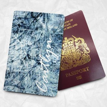 Marble Personalised Custom Name Passport Cover Passport Holder with FREE Name Printing (BBS079)