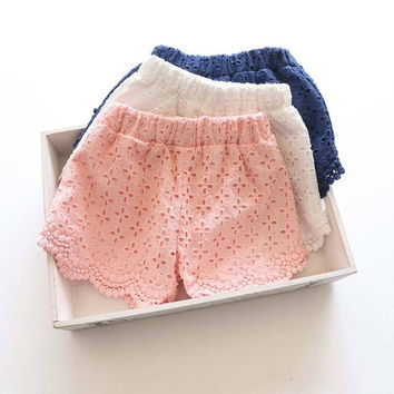 Choice of Girls Lace Summer Shorts