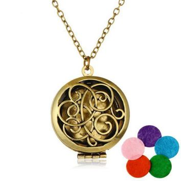 Abstract Love Diffuser Necklace with Pads