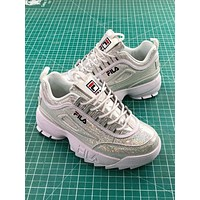 Fila Disruptor Ii 2 Silver Shiny Fashion Shoes