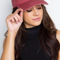 Whimsy Baseball Cap - Burgundy