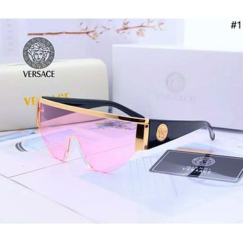 Versace 2019 new men and women models simple wild color film polarized sunglasses #1
