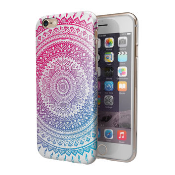 Ethnic Indian Tie-Dye Circle 2-Piece Hybrid INK-Fuzed Case for the iPhone 6/6s or 6/6s Plus