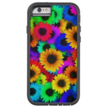 Bright Psychedelic Flower Child Hippy Pattern Tough Xtreme iPhone 6 Case