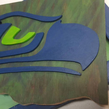 Seattle Seahawks Inspired Decor