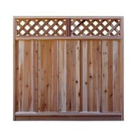 Signature Development, 6 ft. H x 6 ft. W Western Red Cedar Diagonal Lattice Top Fence Panel Kit, 6x6DiagTopFKit at The Home Depot - Mobile