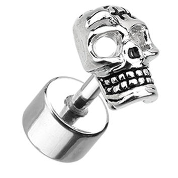 Savage Skull 316L Surgical Steel Fake Plug