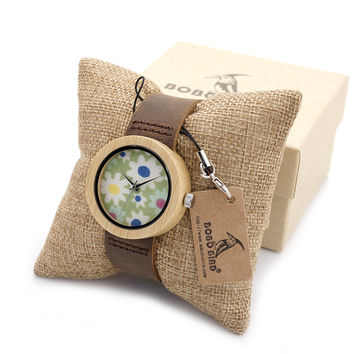 Women Ladies Wrist Watch Brand Bamboo Watch for Women Bracelet Quartz Watch Women's Watches Wooden montre femme clock
