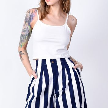 ECH Vintage Sail Away Striped Shorts