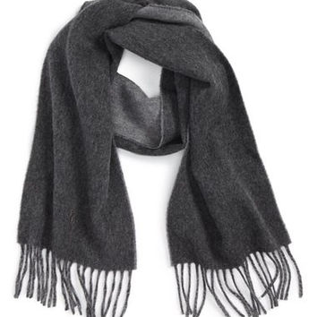 Classic Reversible Wool Blend Scarf