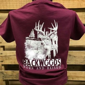 Backwoods Deer Scene Hunt Buck Unisex T Shirt