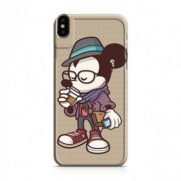 Mickey Mouse hipster coffee iPhone X case