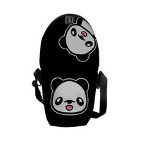 Happy Kawaii Panda Messenger Bag