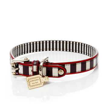 HENRI BENDEL STRIPE DOG COLLAR